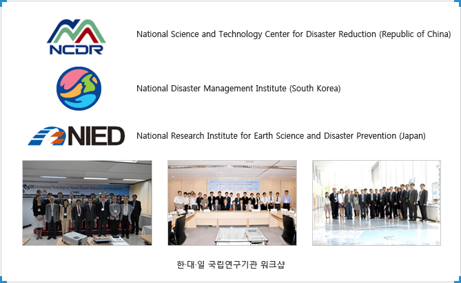 National Science and Technology Center for Disaster Reduction (Republic of China)/National Disaster Management Institute (South Korea)/National Research Institute for Earth Science and Disaster Prevention (Japan)/한·대·일 국립연구기관 워크샵